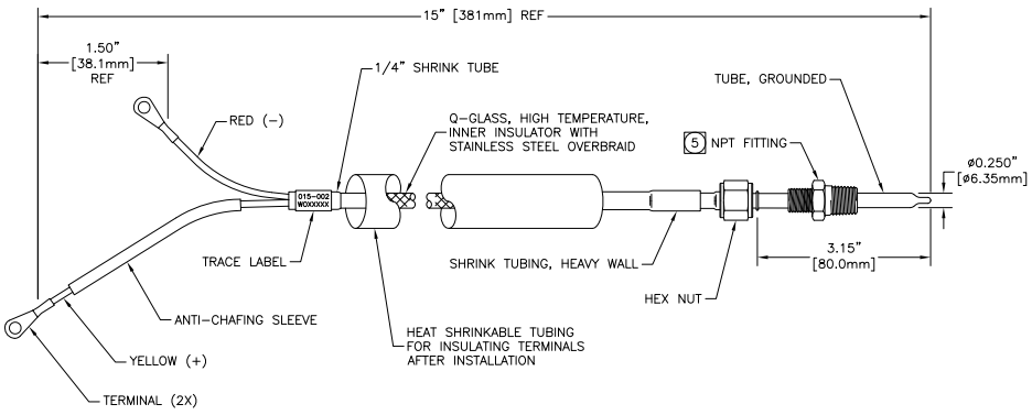 SMX EGT Pyro Thermocouple Probe Drawing smx egt pyro thermocouple probe seaboard marine egt gauge wiring diagram at mifinder.co