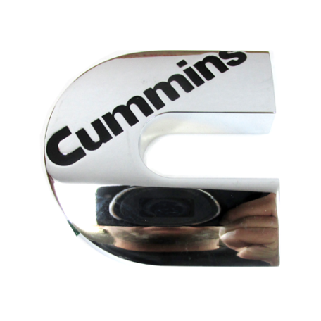 Cummins Marine Chrome Emblem