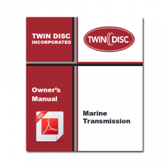 Twin Disc Marine Transmission Owner's Manual