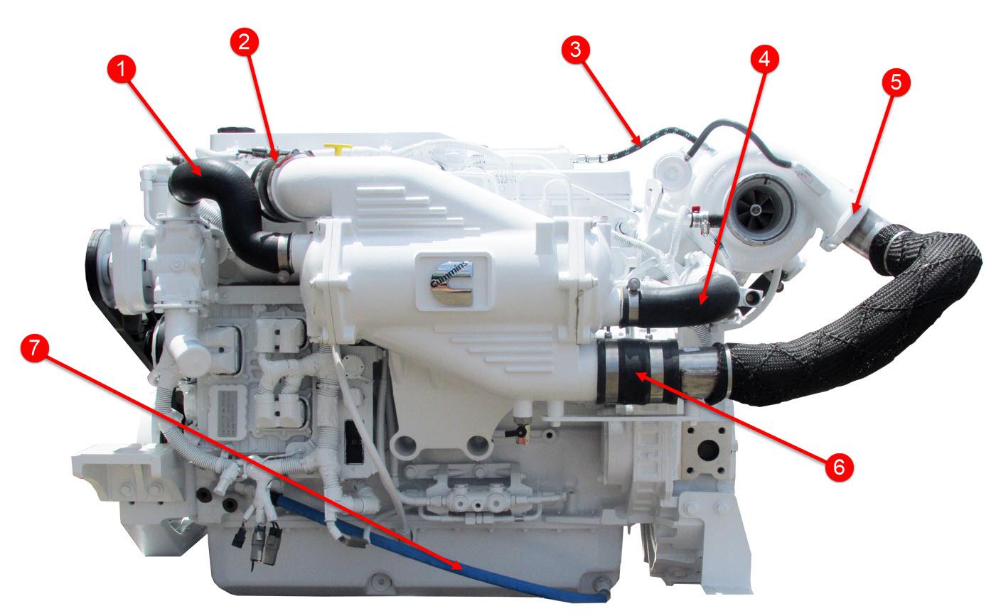 QSB 67 Engine Hoses  Seaboard Marine