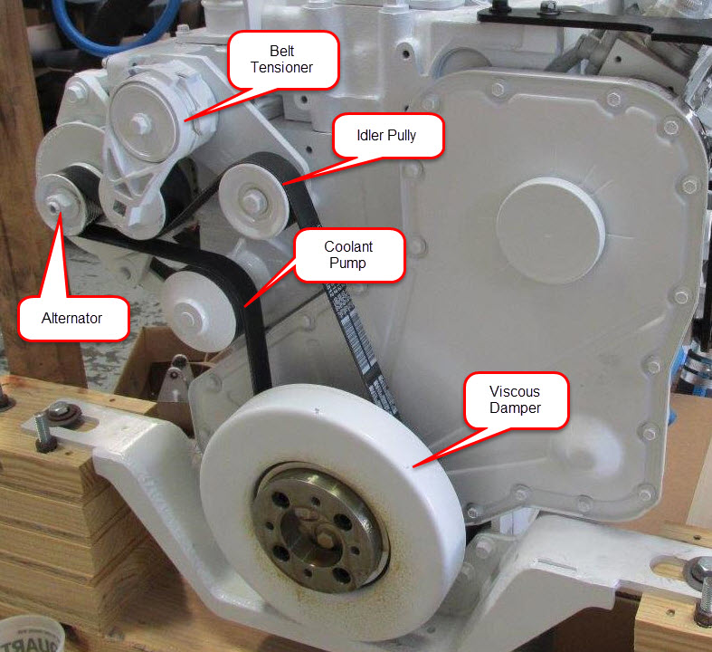 Identifying Spinning Engine Components