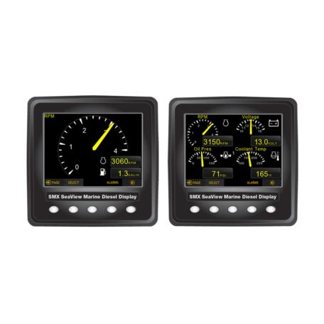 SMX SeaView J1939 Double Digital Display Kit