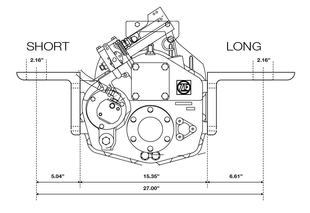 ZF 280A Mounting Bracket Dimensions