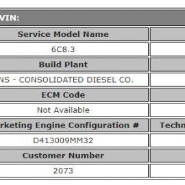 Cummins 6B / 6BT / 6BTA 5 9 Technical Specifications