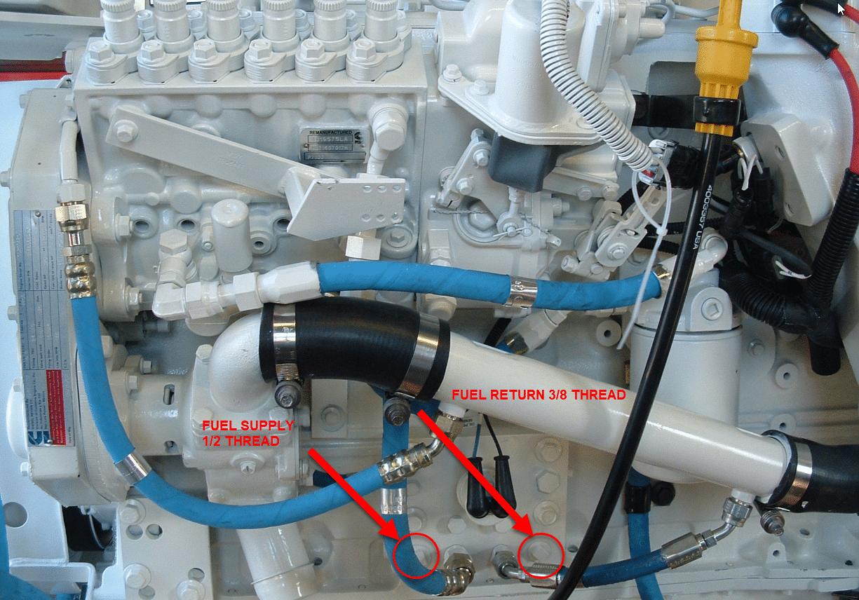 Cummins Marine 6BTA 5 9 Fuel Fittings