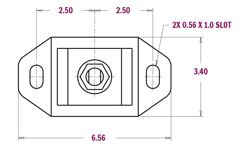 SMX Purple Mount Dimensions