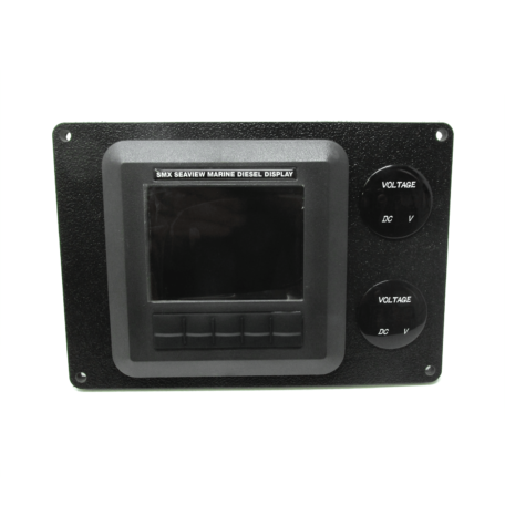 SmartCraft DieselView to SMX Digital Display Frame with Voltmeters
