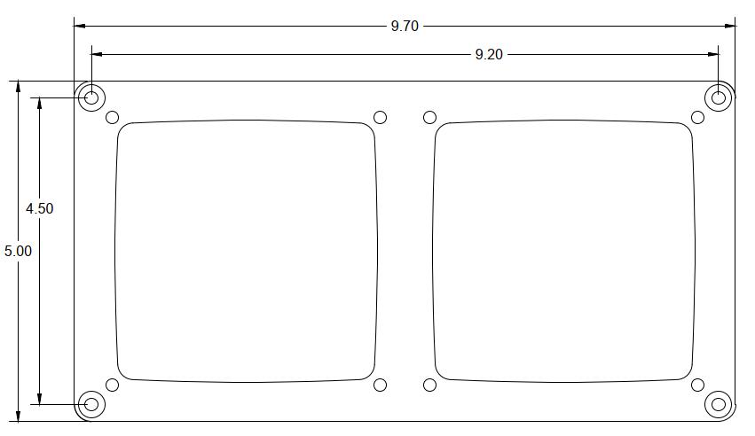 SMX Dual Display Custom CNC Frame