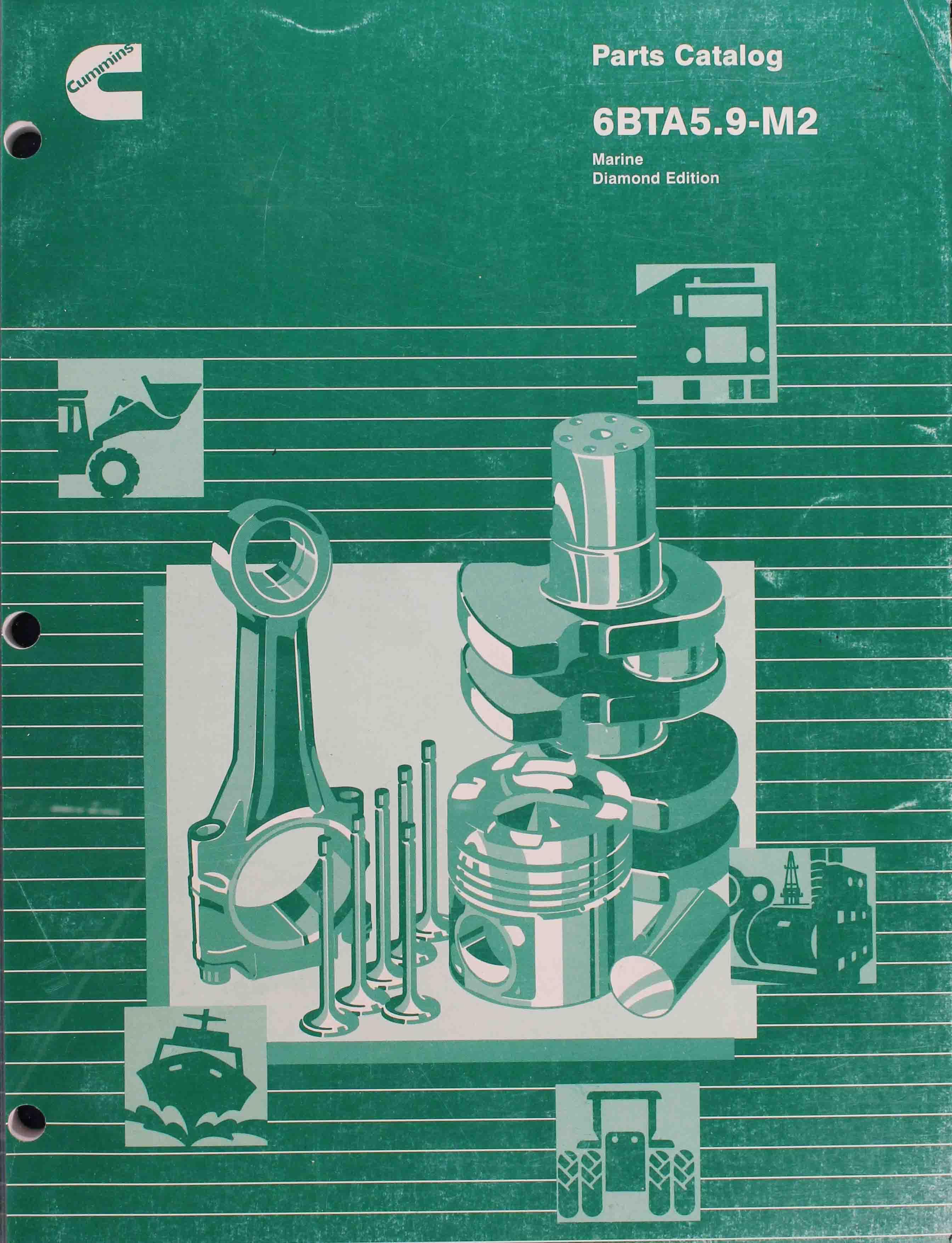 Cummins Marine 6BTA 5 9-M2 (CPL 1928) PDF Parts Catalog