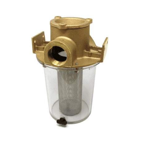 Groco ARG Series Raw Water Strainer with Bronze Cap