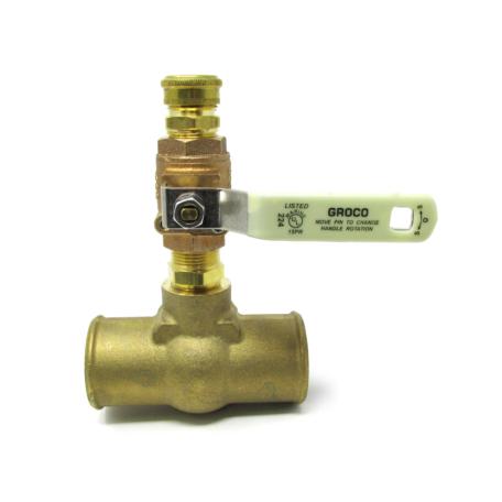 Bronze Tee Adapter for Freshwater Flush System