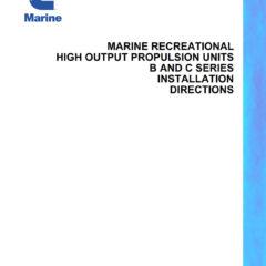Cummins Marine B & C Series Engine Installation Directions (PDF)