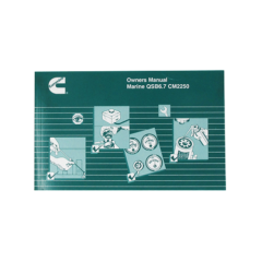Owners Manual for QSB 6.7 Marine Engines (Hard Copy)