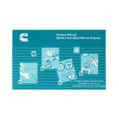 Owners Manual for QSC 8.3 & QSL 9 Marine Engines (Hard Copy)