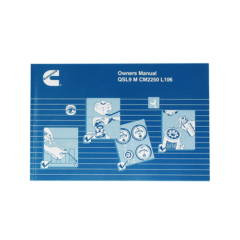 Owners Manual for QSL 9 Marine Engines (Hard Copy)