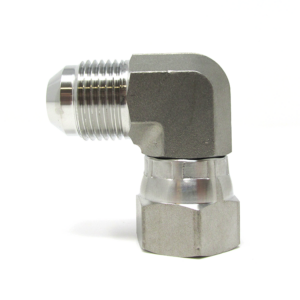 Stainless Steel Hydraulic Fitting JIC #8 to JIC #8 90 Degree