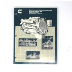 Operation & Maintenance Manual for Early B Series (circa 1985) Marine Engines (Hard Copy)